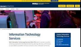 Information Technology Services | Northern Arizona University