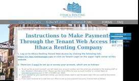 Instructions to Make Payments Through the Tenant Web Access