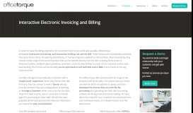 Interactive Electronic Billing | OfficeTorque FRM %electronicbilling