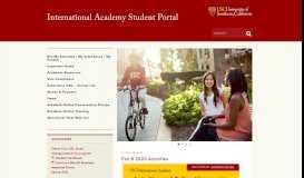 International Academy Student Portal | USC