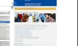 International Admissions and Services — Student Service Center