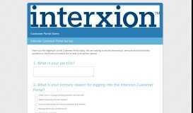 Interxion Customer Portal Survey - SurveyMonkey