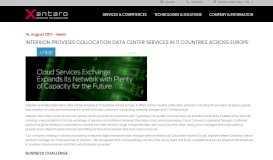 Interxion provides collocation data center services in 11 countries ...