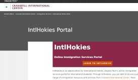 IntlHokies Portal | Cranwell International Center | Virginia Tech