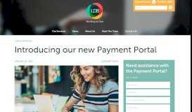 Introducing our new Payment Portal - LDB Group