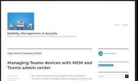 Intune Company Portal – Mobility, Management, & Security