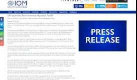 IOM Launches Environmental Migration Portal   International ...