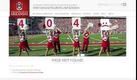 issLink | International Students and Scholars | University of Arkansas