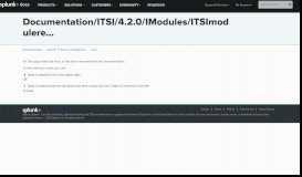 ITSI module release notes - Splunk Documentation
