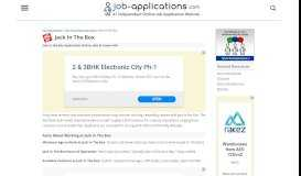 Jack in the Box Application, Jobs & Careers Online