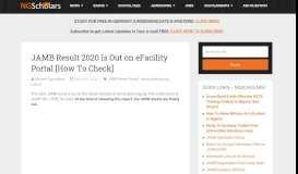 JAMB Result 2019 Is Out on eFacility Portal [How To Check ...