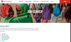 Job Search | Save the Children International