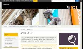 Jobs at UCL   UCL Human Resources - UCL - London's Global ...