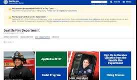 Jobs & Opportunities - Fire   seattle.gov