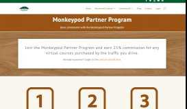 Join the Monkeypod Partner Program and earn commissions for referrals