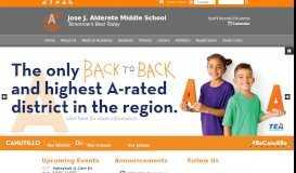 Jose J. Alderete Middle School: Home