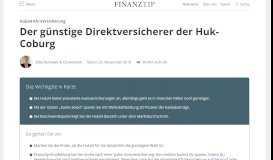Kfz-Versicherung der Huk24: Test & Erfahrungen ... - Finanztip