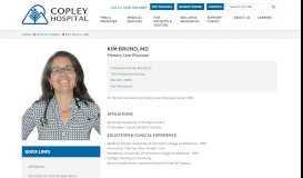 Kim Bruno, MD - Copley Hospital