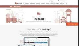 Kronos for Trucking; Transportation Labor Tracking Software ...