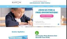 Kumon of SAN FRANCISCO - WEST PORTAL | Home