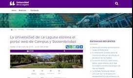 La Universidad de La Laguna estrena el portal web de Campus ... - ULL