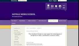 Lambiase, G / Parent Portal - Sayville Public Schools