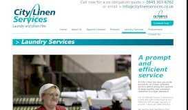 Laundry Services - City Linen Services