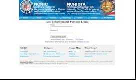 Law Enforcement Partner Login - NCRIC