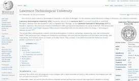 Lawrence Technological University - Wikipedia