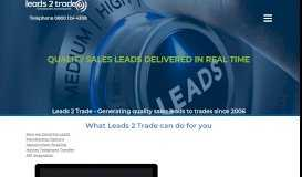 Leads2trade: B2B quality sales leads - Home Improvement sales Leads