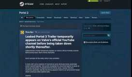 Leaked Portal 3 Trailer temporarily appears on Valve's official ...