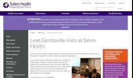 Lean Gemba site visits   About us   Salem Health