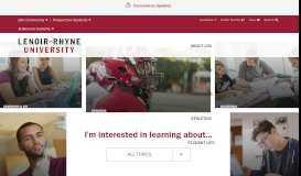 Lenoir-Rhyne University   Private University in North Carolina