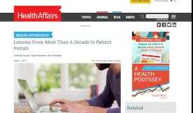 Lessons From More Than A Decade In Patient Portals   Health Affairs
