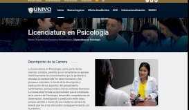 Licenciatura en Psicología – UNIVO