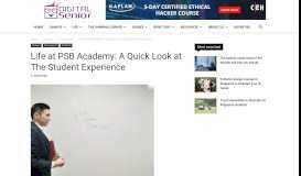 Life at PSB Academy: A Quick Look at The Student Experience -