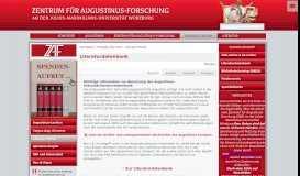 Literatur-Portal - Zentrum für Augustinus-Forschung