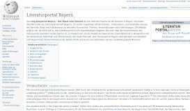 Literaturportal Bayern – Wikipedia
