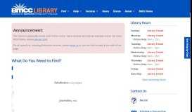 Log In from Home | BMCC Library