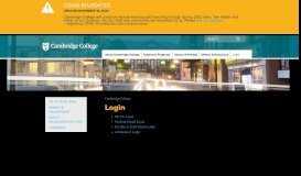 Login   Cambridge College