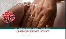 Login - Elder Service Providers