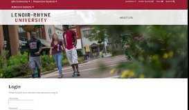 Login - Lenoir-Rhyne University