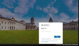 Login to University of Greenwich services