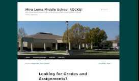Looking for Grades and Assignments? | Mira Loma Middle School ...