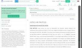 Lopez v. Am. Baler Co. - CaseMine