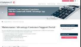 Maintenance Advantage Customer Support Portal