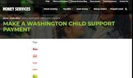Make a Washington Child Support Payment – Money Services