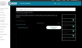 Making payments   Students - Deakin University