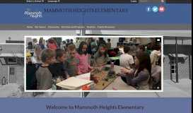 Mammoth Heights Elementary: Home
