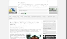 Mammoth Hospital implementing Cerner EHR system - Sierra Wave ...